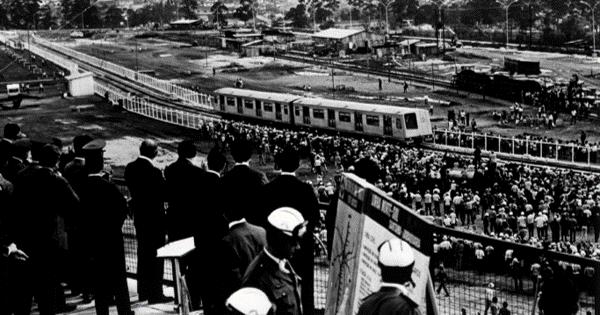 Metrô São Paulo 50 anos quiz- Patio metro sao bento