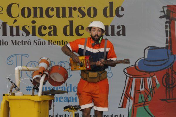 1° Concurso de Música de Rua Toca Aí do Pátio Metrô São Bento Terceira Eliminatória gambiarra lixofônica