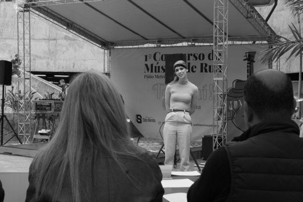 1 Concurso de Música de Rua Toca Aí Pátio Metrô São Bento Lucia Zorzi