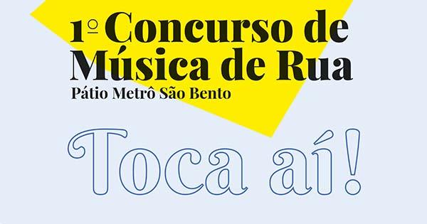 1 Concurso de Música de Rua Pátio metrô São Bento